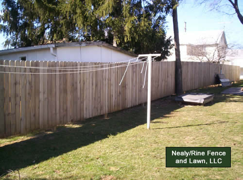 Wood Fence Installation By Nealy Rine Fence And Lawn Llc
